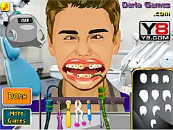Justin Bieber at Dentist